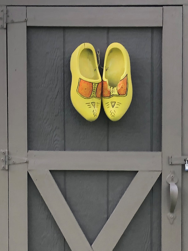 Yellow wooden shoes
