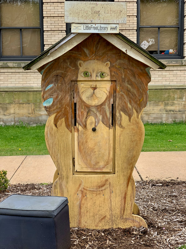 Little Free Library Lion